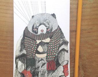 Woolly Bear Greeting Card