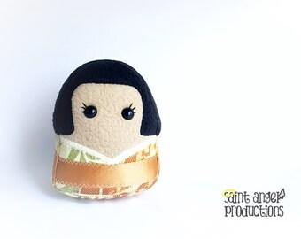 Kokeshi Doll Plushie, Plush Stuffed Japan Kawaii, READY TO SHIP