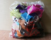 Vintage Kimono Fabric Scraps - Quilting and Small Projects Bag 4 - Brights