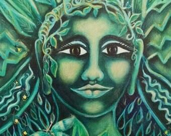 Original Painting: Motina Nakti, Mother of the Night