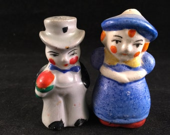 Set of Vintage Lady and Gentleman Salt and Pepper Shakers
