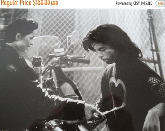 "ON SALE 1990 Graffiti Bridge Production Photograph, Black & White Photo, ""Prince"", Ingrid Chavez ""Aura"" Musical Drama, Photo by Jeff Katz"