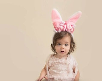 boutique EASTER BUNNY EARS with funky fun bows