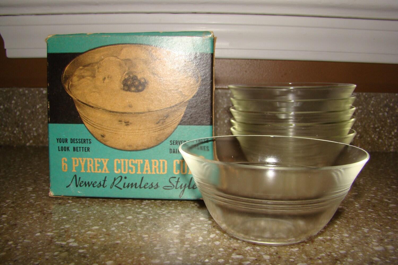 4 Vintage Pyrex Cobalt Blue Custard Bowls 463 175 ml 3 |Lab Custard Bowl