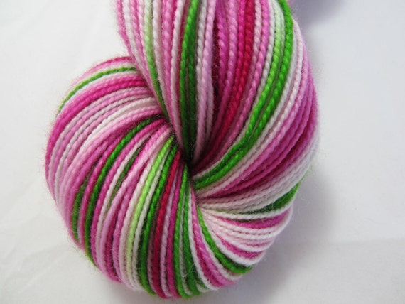 Pink Lilies - Dyed to Order - Hand Dyed - Merino Wool Yarn - Fingering Weight