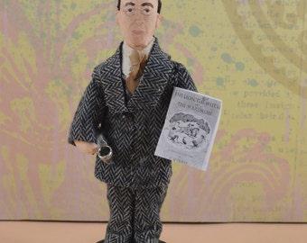 C.S. Lewis Doll Miniature Author of Narnia Books Writer Classic Literature