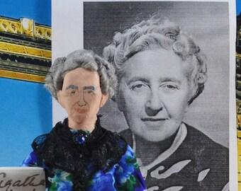Agatha Christie- Mystery Writer-  Doll Art- Uneek Doll Designs