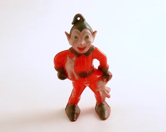 Vintage Elf Christmas Ornament Sinister
