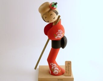 Vintage Japanese Doll Odori Dancing Kokeshi Japan