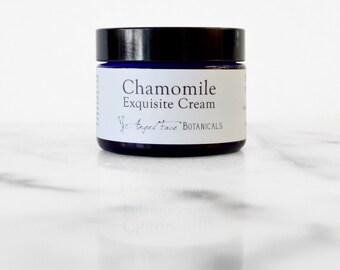 Chamomile Exquisite Cream - Organic Antioxidant Facial Moisturizer For All Skin Types - Vegan, Paraben Free - 1.25 oz - New Improved Formula