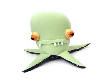 "Plush Sea Creature Plush ""Gene"" Pentapod Cotton Monster"
