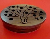 Tree of Life Wooden Keepsake Box Handmade from Walnut and Birch Sustainable