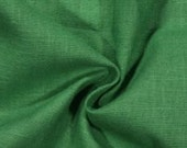 Emerald Green Linen Pillows with Down Feather/Poly Insert