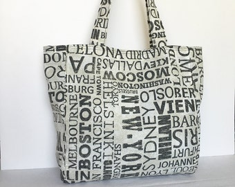 Everyday Tote - Destinations Graphite