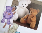 Teddy Bear Pattern - Kwik Sew - Sewing - Toy Pattern - Stuffies - Vintage Kids - Bears - Kids
