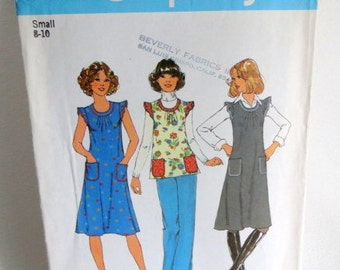 SALE - Vintage Pattern - Uncut - Simplicity 7664 - Top Jumper Dress - Smock - Boho - Vintage Women's - Sewing Pattern -