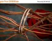 Valentines Day Sale 14k Rose Gold Twig Cuff Bracelet | Stacking Bracelets | Nature Inspired Bracelets