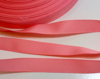 Coral Ribbon, Coral Grosgrain Ribbon 5/8 inch wide x 9 yards