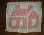 Old School House Quilt Piece | Vintage Quilt Piece | Antique Quilt Piece | Primitive Quilt Piece | Old Quilt Square