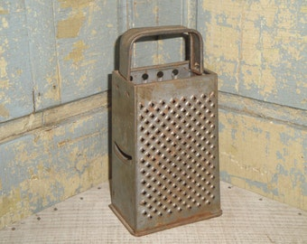 Old Tin Box Grater | Primitive Tin Grater