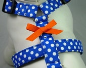 Dog Harness - Blue Polka Dot