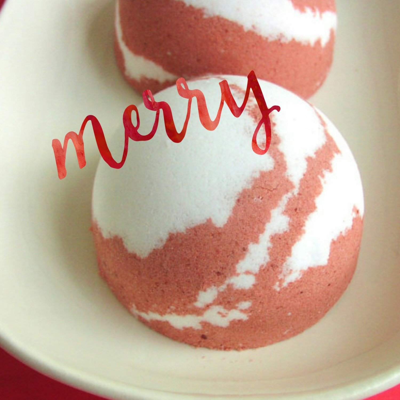Christmas Bath Bomb Peppermint Swirl Bath Bomb Gift