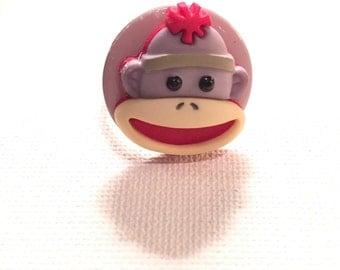 Sock Monkey Ring