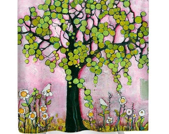 Shower Curtains for Kids, Bathroom Decor, Tree of Life, Oversized Art, Bathroom Accessories