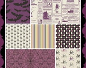 25% OFF Lost & Found Halloween Purple Fat Quarter Bundle