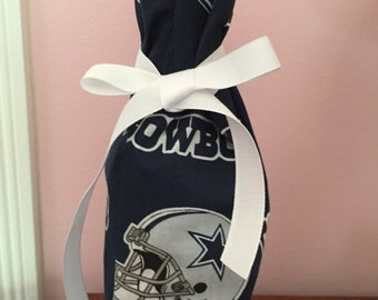 Dallas Cowboys bottle bag gift bag