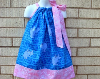 Dr Seuss, Horton Hears a Who Pillowcase Dress, Sizes 3M  up to 7 years