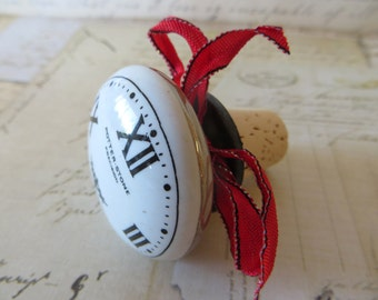 Wine Bottle Stopper With Clock Face, Wine Accessories