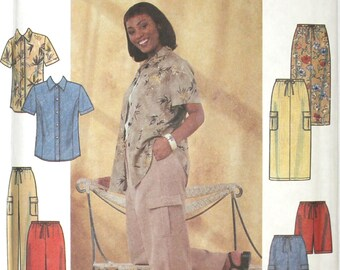 UNCUT Cargo Pants, Shorts & Skirt with Pockets Size FF 18W-24W Bust 40-46 Waist 33-39