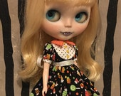 Blythe Dress Candy Outfit with striped Socks