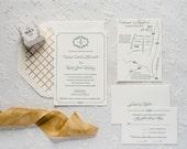 Classic Letterpress Wedding Invitations