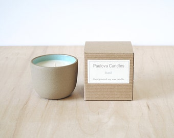 basil soy wax candle : SALE