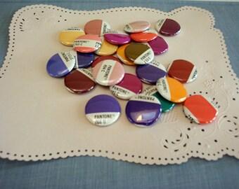 Pantone Magnet Set / Pantone Buttons / Recycled Pantone - Graphic Designer Gift