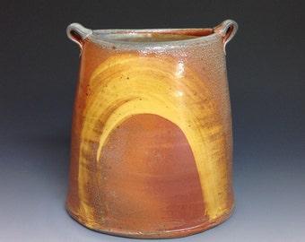 Oval Vase. Soda Fired Stoneware