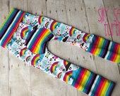 Maxaloones, Emo Rainbow cloth diaper pants, grow with me pants, babywearing pants