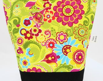 Insulated Lunch Bag by Nana Brown's - Yellow Floral Swirl