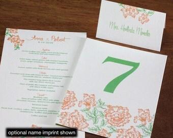 Fiesta Menu, Table Marker & Place Card Set