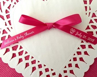100 Personalized Baby Shower Ribbon