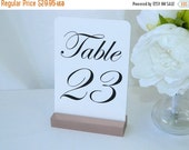 Table Number Holder + Rose Gold Wood Wedding Table Number Holders (Set of 10)