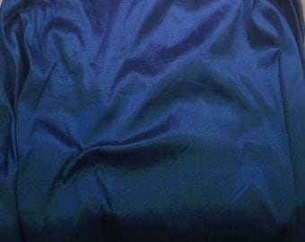 Royal Blue - Faux Silk Dupioni Fabric - fat 1/4