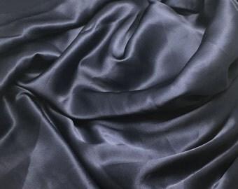 NAVY BLUE Silk Charmeuse Fabric 1/4 Yard