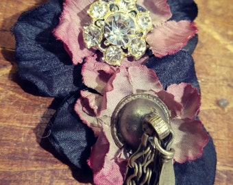 Night of the Plum Wine - ATS or Tribal Fusion Belly Dance Hair Clip