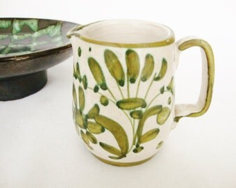 vintage italian pottery miniature pitcher olive oil or cream