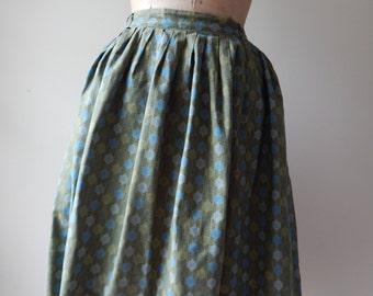 Envious skirt | vintage 1950s skirt |  printed cotton 50s skirt