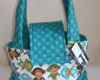 Small Urban Zoologie Monkeys Toddler Short Trip Diaper Bag