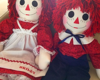 36 Inch Raggedy Ann and Andy Doll Set Handmade - Custom Orders - Personalized